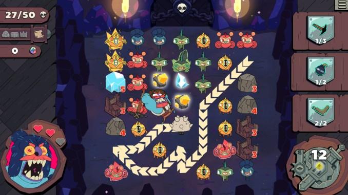 """Das Bild zeigt eine Szene aus dem Spiel """"Grindstone""""."""