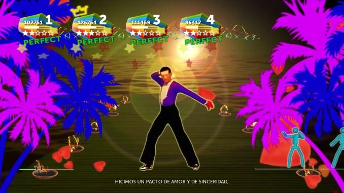 """Das Bild zeigt eine Szene aus dem Spiel """" Baila Latino""""."""