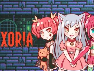 """Das Bild zeigt das Logo von """"Nexoria: Dungeon Rogue Heroes""""."""