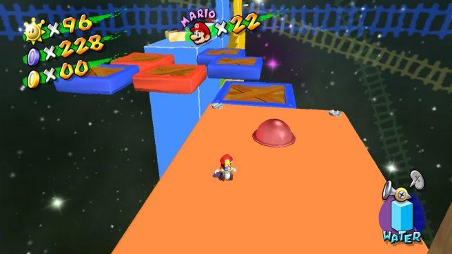 Das Bild zeigt einen Glitch aus Super Mario Sunshine