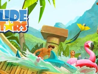 """Das Bild zeigt das Logo des Spieles """"Slide Stars""""."""