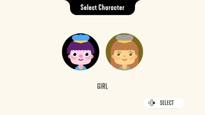 """Das Bild zeigt die Charakterauswahl von """"TENS!""""."""