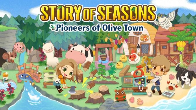 """Das Bild zeigt das Logo von """"Story of Seasons: Pioneers of Olive Town""""."""