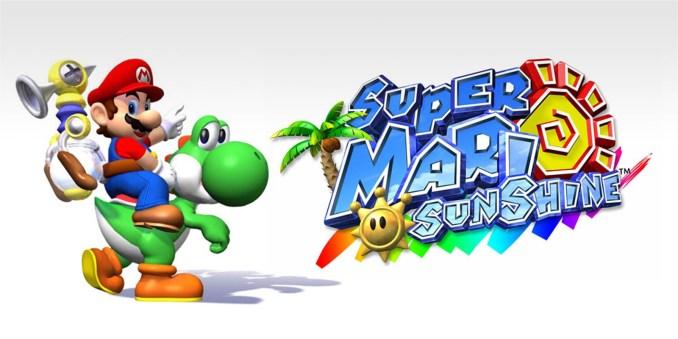 """Das Bild zeigt das Logo von """"Super Mario Sunshine"""", welches auch den Einflüssen der Kindheit unterliegt."""