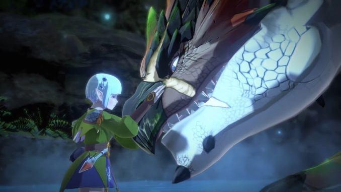 """Das Bild zeigt Ena und ein Monstie in """"Monster Hunter Stories 2""""."""