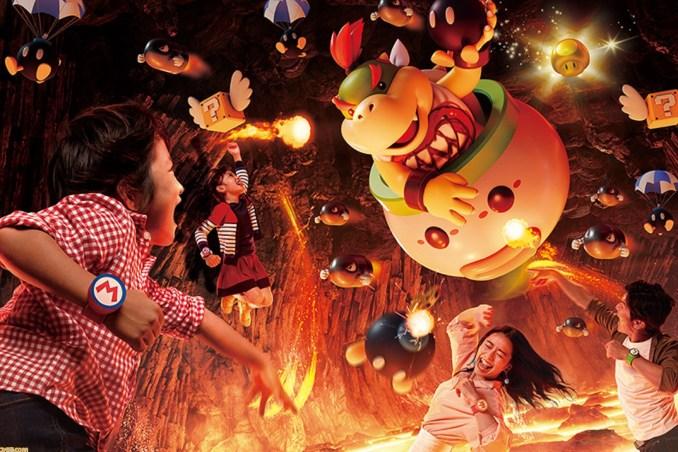 Das Bild zeigt die Power-up-Armband-Herausforderung in Super Nintendo World.