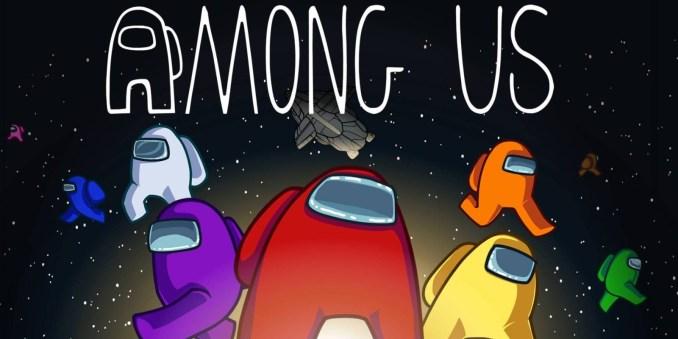 """Das Bild zeigt das Logo von """"Among Us""""."""