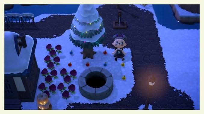 """Das Bild zeigt Baumschmuck, den man in """"Animal Crossing: New Horizons"""" aus Nadelbäumen schütteln kann."""