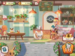 """Das Bild zeigt eine Szene aus dem Spiel """"Pokémon Café Mix""""."""