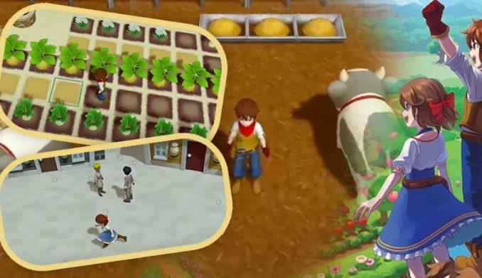 """Das Bild zeigt eine Szene aus dem Spiel """"Harvest Moon: One World"""". Es handelt sich um einen von vielen Farmsimulatoren."""