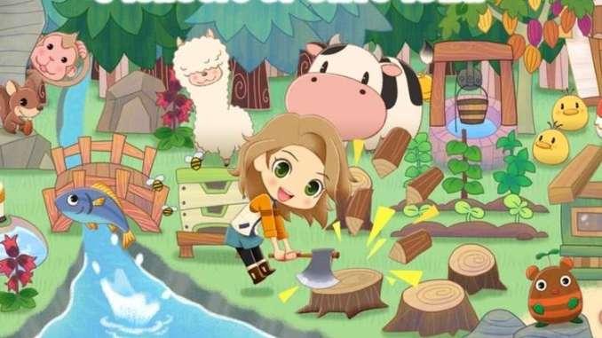 """Das Bild zeigt ein Artwork zu dem Spiel """"STORY OF SEASONS: Pioneers of Olive Town"""". Es handelt sich um einen von vielen Farmsimulatoren."""