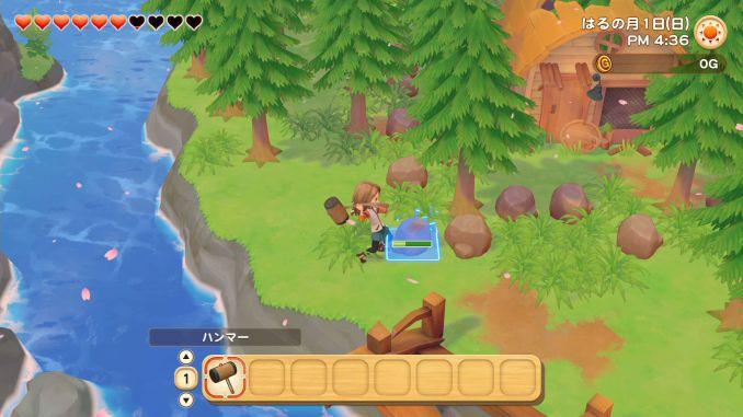 """Das Bild zeigt eine Szene aus dem Spiel """"STORY OF SEASONS: Pioneers of Olive Town"""". Es handelt sich um einen von vielen Farmsimulatoren."""