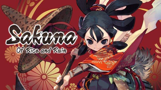 """Das Biild zeigt das Logo von """"Sakuna: Of Rice and Ruin""""-"""