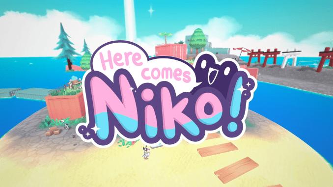 """Das Bild zeigt das Logo von """"Here Comes Niko!""""."""