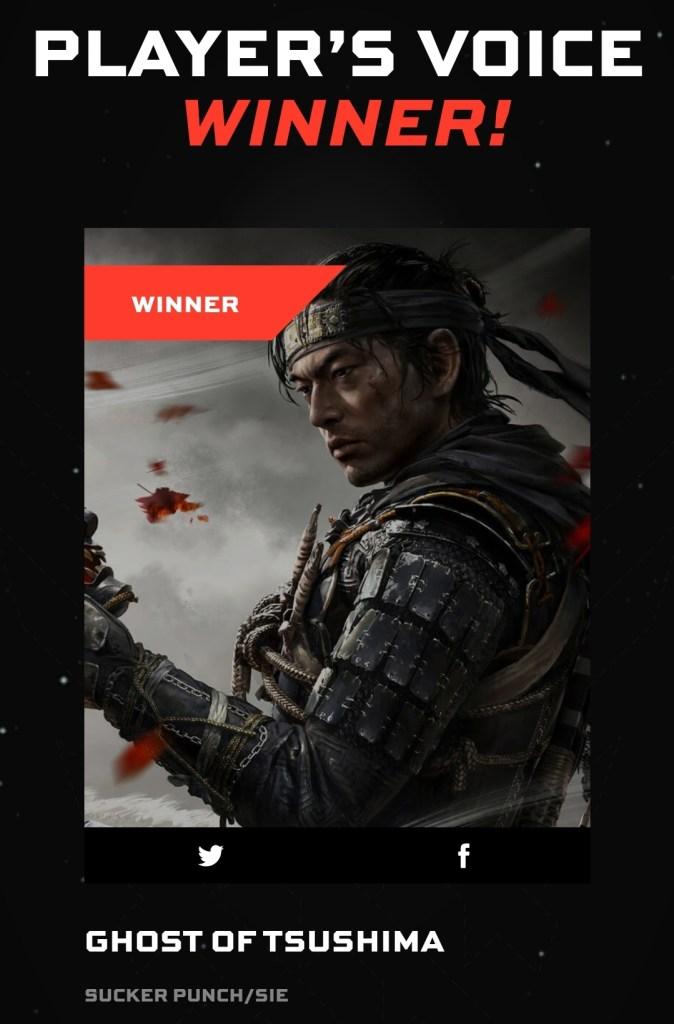 Das Bild zeigt den Gewinner des Player's Voice Awards der The Game Awards in diesem Jahr.