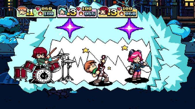"""Das Bild zeigt ein Musik-Minigame in """"Scott Pilgrim vs. The World: The Game Complete Edition""""."""