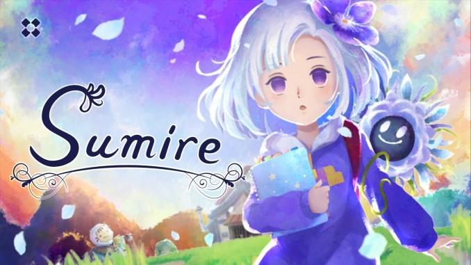 """Das Bild zeigt das Logo und die Protagonistin des Spieles """"Sumire""""."""