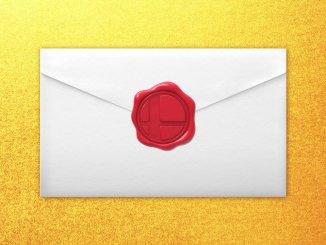 """Das Bild zeigt einen verschlossenen Brief. Mit diesem Bild wurde der neue Charakter für """"Super Smash Bros. Ultimate"""" angekündigt."""
