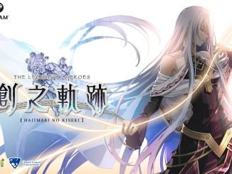 """Das Bild zeigt das Logo von """"The Legend of Heroes: Hajimari no Kiseki""""."""