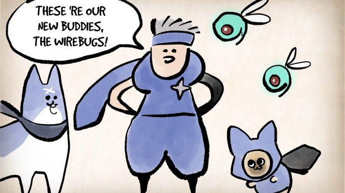 """Das Bild zeigt ein Artwork zum Thema Wirebug in dem Spiel """"Monster Hunter Rise""""."""