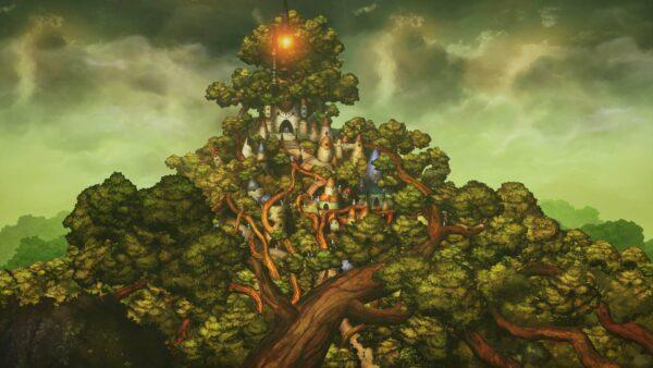"""Das Bild zeigt eine Szene aus dem Spiel """"Bravely Default II""""."""