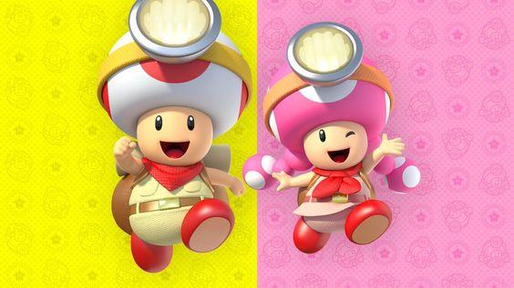 Das Bild zeigt Captain Toad und Toadette.
