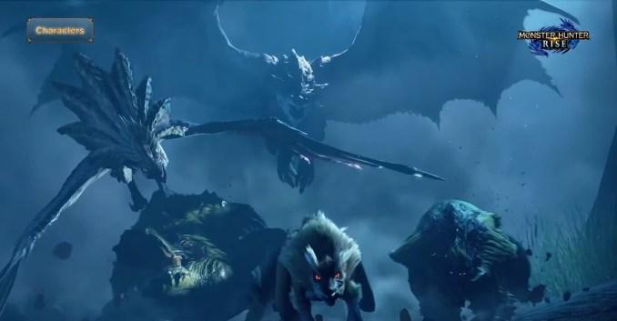 Das Bild zeigt eine Szene aus dem Monster Hunter Digital Event.
