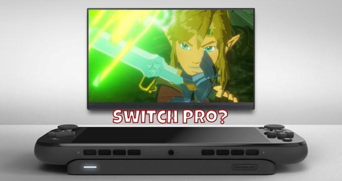 Das Bild zeigt ein Fandesign einer Switch Pro.