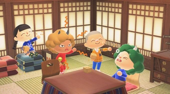 """Das Bild zeigt das Setsubun-Fest in """"Animal Crossing: New Horizons""""."""
