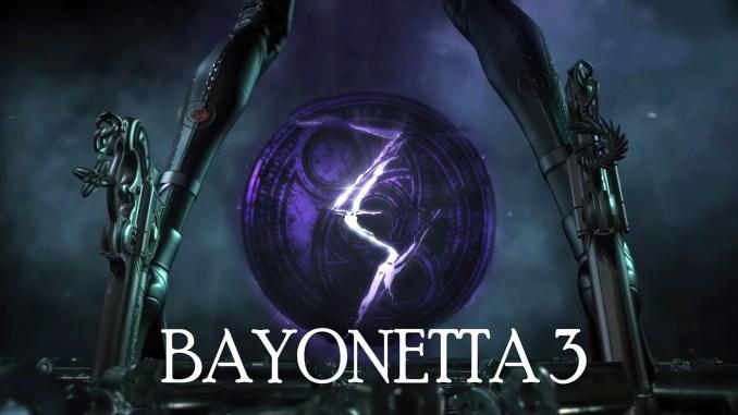 """Das Bild zeigt das Logo von """"Bayonetta 3"""", einem Spiel aus dem Hause PlatinumGames."""