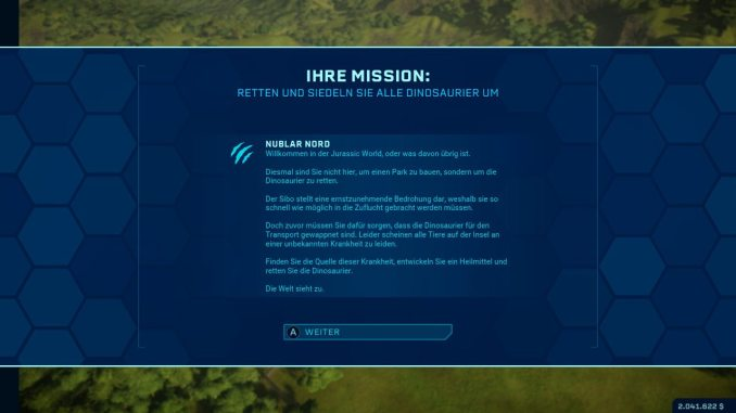 """Das Bild zeigt eine Szene aus dem DLC des Spiels """"Jurassic World Evolution: Complete Edition""""."""