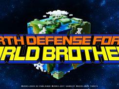 """Das Bild zeigt das Logo von """"Earth Defense Force: World Brothers""""."""