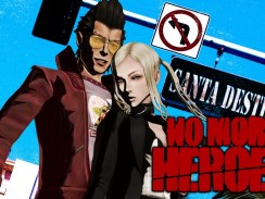 """Das Bild zeigt das Logo von """"No More Heroes""""."""