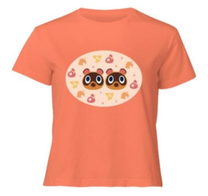 Das Bild zeigt ein T-Shirt einer neuen Kollektion im Animal Crossing-Stil von Zavvi.