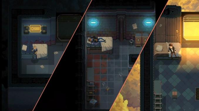 """Das Bild zeigt die drei spielbaren Charaktere in """"Disjunction""""."""