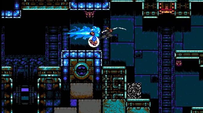 """Das Bild zeigt eine pfeilschnelle Ninja-Attacke in """"Cyber Shadow""""."""