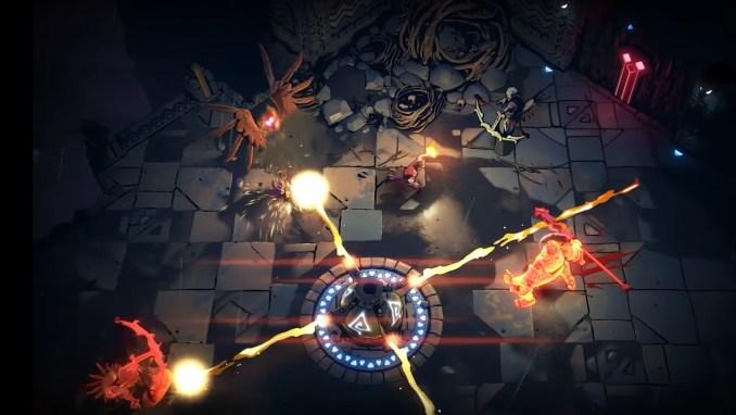 """Das Bild zeigt eine Kampfsequenz in """"Curse of the Dead Gods""""."""