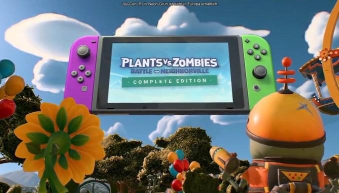 """Das Bild zeigt """"Plants vs. Zombies: Battle for Neighborville Complete Edition"""" auf der Switch, entwickelt mit der Frostbite-Engine."""