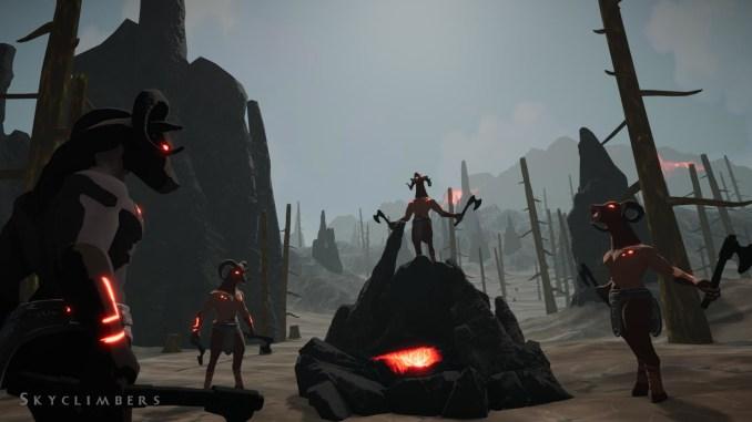"""Das Bild zeigt düstere Wesen aus dem Spiel """"Skyclimbers"""""""