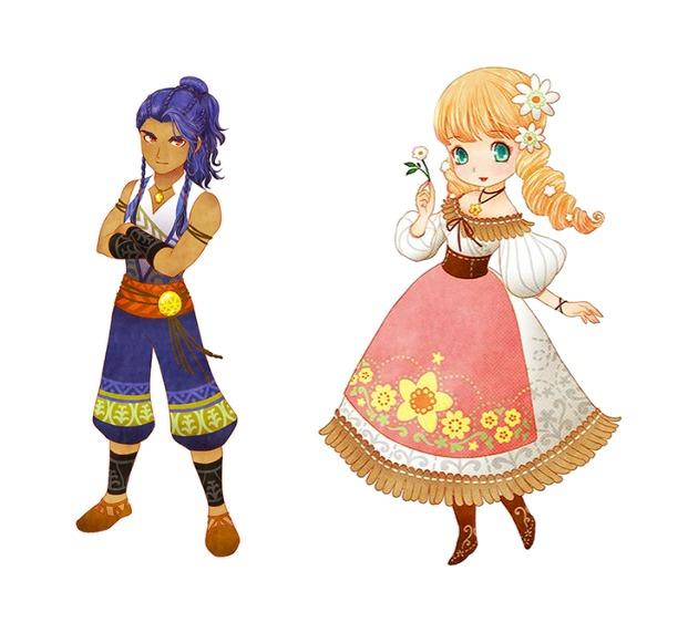 """Das Bild zeigt zwei neue Heiratskandidaten aus dem Erweiterungspass von """"STORY OF SEASONS: Pioneers of Olive Town""""."""