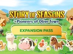 """Das Bild zeigt das Logo des Erweiterungspasses von """"STORY OF SEAONS: Pioneers of Olive Town""""."""