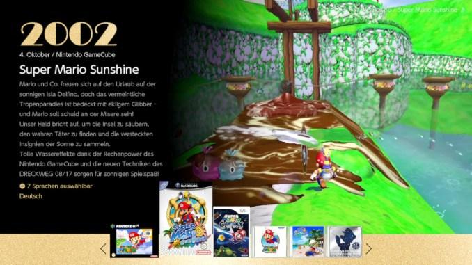 """Das Bild zeigt das Hauptmenü von """"Super Mario 3D All-Stars""""."""