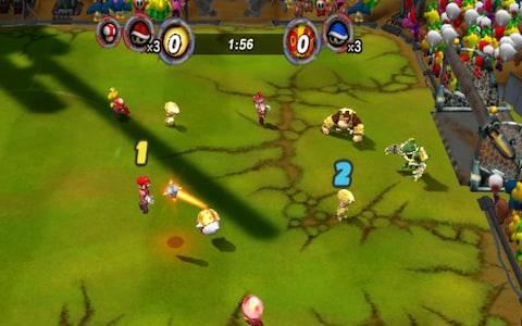 """Das Bild zeigt das von Next Level Games entwickelte """"Mario Strikers Charged Football""""."""