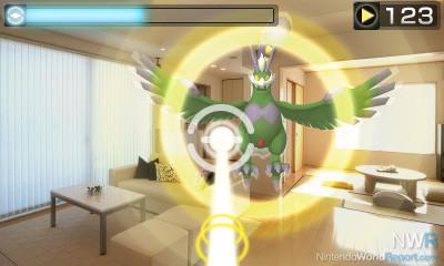 Das Bild zeigt eine Fangszene aus Pokémon Traumradar.