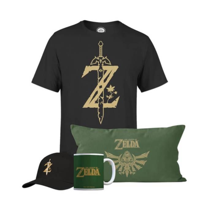 Das Bild zeigt das Zelda Homeware Bundle von Zavvi.