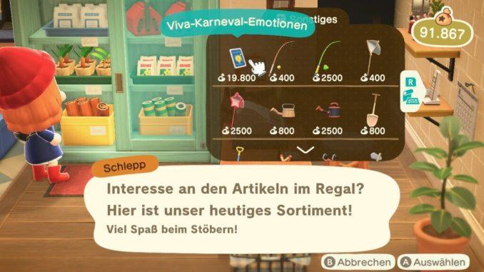 """Das Bild zeigt die Emotionen zu Karneval in """"Animal Crossing: New Horizons""""."""