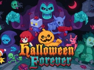 """Das Bild zeigt des Logo des Spiels """"Halloween Forever""""."""