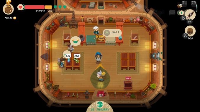 """Das Bild zeigt eine Szene aus dem Spiel """"Moonlighter""""."""