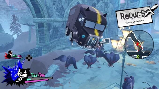 """Das Bild zeigt eine Szene aus dem Spiel """"Persona 5 Strikers""""."""