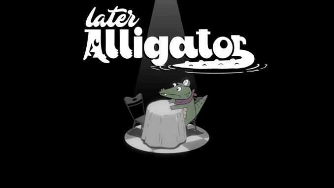 """Das Bild zeigt das Logo von """"Later Alligator""""."""